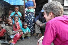 Orphans at Action Salutaire pour Development Integrale/Goma, a church-led NGO, with Presiding Bishop Katharine Jefferts Schori during her recent visit to the Anglican Church of the Congo.