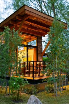 "The Wedge, a 400 sq ft (37 m2) ""rustic modern"" cabin by WheelHaus  I would love to put this in the mountains around here and go there for the holidays every year, and of course a getaway in the summers!  #pinadream"