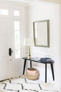 Black and Gold Entry Table