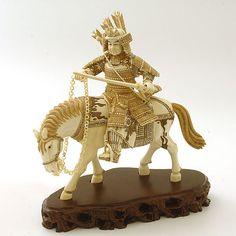❤ - Carved ivory Samurai