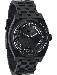 Zegarek unisex All Black Black Crystal Nixon Monopoly A3252150