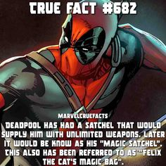QOTD: If you had a magic satchel to supply you with unlimited items what would the item be? [Typo: known] #marvel #Deadpool by devilzsmile.com #devilzsmile