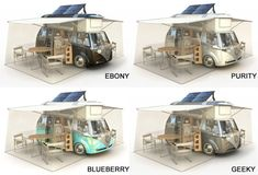 VW Verdier's Concept: Stylish Solar-Powered Eco Camper (colors)