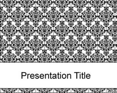 Old black fashioned PowerPoint template is a simple background for abstract theme presentations that you can download for free