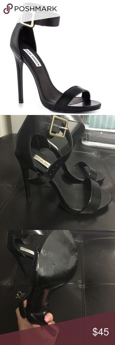 Steve Madden Sandal Heels Sexy and sleek, these black sandal heels are a closet staple. These heels are super comfy and can be worn out during the day or on the night out. Worn a handful of times and in great condition. Steve Madden Shoes Heels