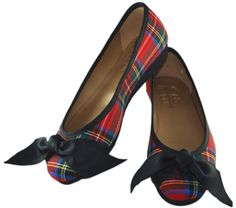 The plaid ballet. I need to get a pair.  They are just so cute