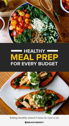 Regardless of your financial situation you CAN eat healthy. Check out these healthy meal prep ideas and recipes that are also inexpensive! Meal prep ideas // meal prep recipes // cheap recipes // meal planning // 21 Day Fix // Beachbody // Beachbody Blo Healthy Meal Prep, Healthy Cooking, Healthy Eating, Healthy Nutrition, Healthy Foods, Inexpensive Meals, Cheap Meals, Make Ahead Meals, Easy Meals