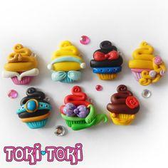 Disney Princess Cupcake Charms. Aurora van MadeByTokiToki op Etsy