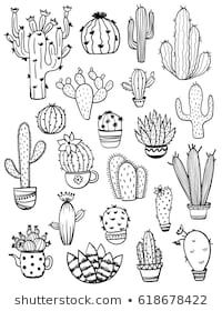 of isolated black sketch cactus and succulent icons. Houseplant and wild cac. Set of isolated black sketch cactus and succulent icons. Houseplant and wild cac. - -Set of isolated black sketch cactus and succulent icons. Houseplant and wild cac. Cactus Drawing, Plant Drawing, Cactus Art, Cactus Doodle, Cactus Flower, Doodle Drawings, Easy Drawings, Doodle Art, Tattoo Drawings