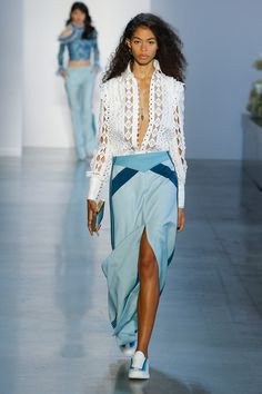 Fashion Week New York Spring/Summer 2019 look 18 from the Zimmermann collection womenswear Spring Fashion Trends, Fashion Week, Runway Fashion, Fashion Show, Womens Fashion, Fashion Design, Fashion Stores, Edgy Outfits, Fashion Outfits