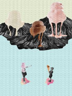 "Saatchi Art Artist Jaume Serra Cantallops; Collage, ""Icecreams. Limited Edition Print 2 of 10"" #art"