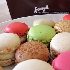 Luxemburgerli macaroons from Sprungli in Zurich. mmmmmmm.... I want more!