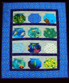 Fish bowl quilt.