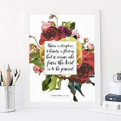 Your place to buy and sell all things handmade Bible Verses For Girls, Star Bible Verse, Bible Verse Decor, Encouraging Bible Verses, Bible Encouragement, Scripture Art, Christian Decor, Floral Wall, Art Floral