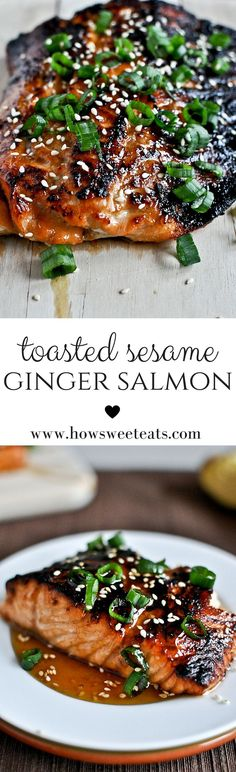 Toasted Sesame Ginger Salmon by @howsweeteats I howsweeteats.com