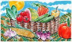 Painting for local farmer's market poster