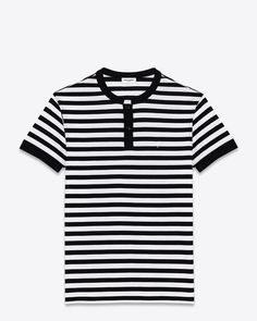 Saint Laurent black and white polo top