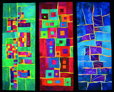 Picture Ann Merrett-Sonnet 18 Triptych. She has some instructional youtube videos