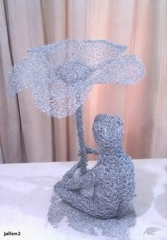 Jallen2: Chicken wire sculpture: FROG WITH FLOWER (new listing this week) | Trade Me Frog Or Toad, Chicken Wire Sculpture, Indoor Gardening, Home Living, Solar Panels, Ornament, Flowers, Pattern, Outdoor
