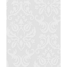 Graham & Brown 56 sq. ft. Large Damask Paintable White Wallpaper-17773 at The Home Depot Thinking of this for the back of my bookshelf