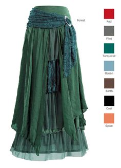 - Layered Skirt with Brooch Mom needs this one!