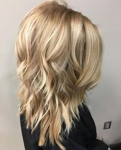 Wavy Layered Medium Hair