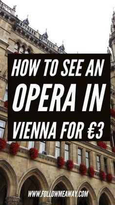 Did you know you can see an Opera in Vienna for just at the State Opera House? Here is how to check See an Opera in Vienna off your bucket list. Europe Travel Tips, European Travel, Travel Guides, Places To Travel, Travel Destinations, Travel Jobs, Travel Hacks, Munich, Wachau Valley