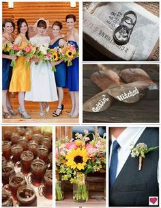 Rustic Blue and Yellow Wedding Ideas