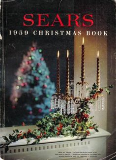 "1959 Sears Christmas - At the time you were judge where you fit in the ""middle class"" by what ""christmas catalog you did a bulk of your Christmas shopping from, afluent/white collar, Sears, with the appropriate fill-ins from the right stores- Lord & Taylor, Bonwitt's,Fielen's Ect, middle -middle Class/ blue collar- Monkey Wards with fill-ins from lesser stores...then down the ladder.... was all very peculiar."