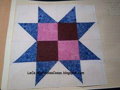 Patchwork en grupo: Bloque 7 - Indian Star Quilts, Blanket, Blog, Scrappy Quilts, Group, Quilt Sets, Blogging, Blankets, Log Cabin Quilts