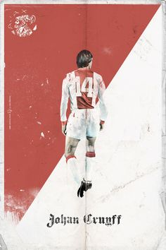 History of the Ballon d'Or - Retro Style Posters - 1971 - Johan Cruyff(Ajax Amsterdam)