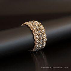 Beading Tutorial Night in the Palace Bracelet by SmadarsTreasure