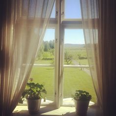 View from a window at Alsters herrgård