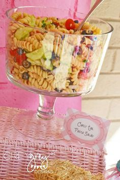 Curly Tail Pasta Salad! Avery's Three Little Pigs Party   CatchMyParty.com