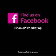 If you haven't yet Liked us on #facebook go now. Let's stay connected. by hoopla_marketing