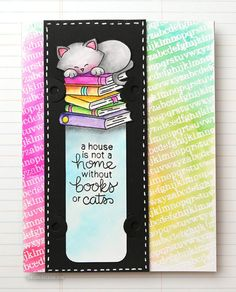 DIY Bookmark Card! Join Kristina Werner on her Zig Clean Color Real Brush Markers mini series!