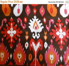 50% OFF SALE Cotton Fabric,Home Decor Fabric,IKAT Fabric,Quilt Cotton, Dear Stella Patt # 116, Dear Stella Design, By the Yard, 44/45 Inches