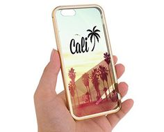 """Apple iPhone 6 4.7"""" Champagne Gold Cali Sunset Beach Aluminum Bumper Cases for Girls Teens Cover Skin Mobile Phone Accessory MonoThings http://www.amazon.com/dp/B00WTM5PAM/ref=cm_sw_r_pi_dp_o7pJvb1VZYCJF"""