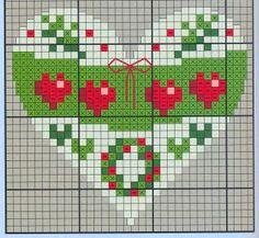 Points de croix *♥* Cross stitch Heart 3