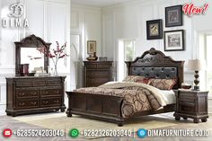 Kamar Set Jati Minimalis Natural Luxury Great Solid Wood Jepara TTJ-0963