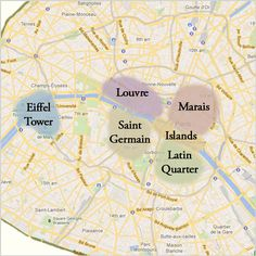 Paris Sights Map
