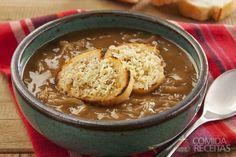 Receita de Sopa de cebola com café em receitas de sopas e caldos, veja essa e outras receitas aqui!