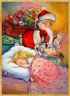 Christmas Books For Kids, Childrens Christmas, Merry Christmas To All, Christmas Scenes, Christmas Greetings, Christmas Holidays, Vintage Christmas Images, Christmas Pictures, Vintage Images