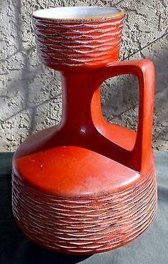 Bay Keramik West German Pottery Mid Century Modern WGP Wild Large Unusual 1960s