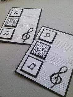 Birthday Cards For Men, Simple Birthday Cards, Diy Note Cards, Musical Cards, Hand Stamped Cards, Scrapbook Cards, Scrapbooking, Boy Cards, Embossed Cards