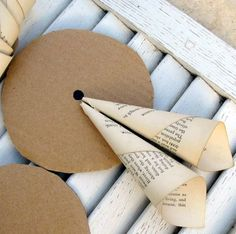 paper wreath diy use white paper and dip edges in gold or red glitter