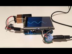TFT Arduino oscilloscope - YouTube