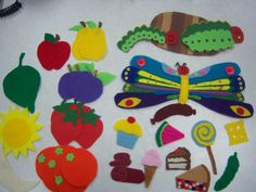 very hungry caterpillar felt board
