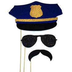 Photo Booth Props Police Themed Photo Booth by CraftingbyDenise Cop Party, Police Retirement Party, Police Hat, Nurse Hat, Prop Making, Photo Booth Props, Party Signs, Party Printables, Boy Birthday