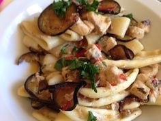 Calamarata con pesce spada e melenzane #iomangioitaliano